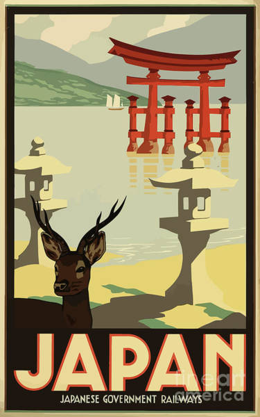 Wall Art - Painting - Vintage Travel Poster - Japan by Esoterica Art Agency
