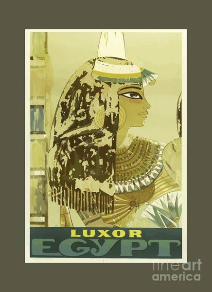 Wall Art - Painting - Vintage Travel Poster - Luxor, Egypt by Esoterica Art Agency