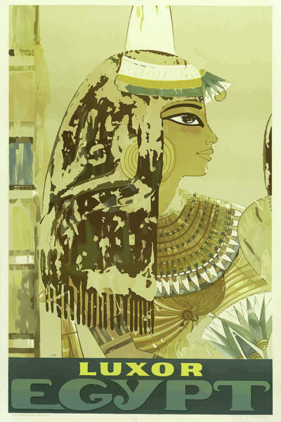 Mixed Media - Vintage Travel Poster Luxor Egypt by Movie Poster Prints