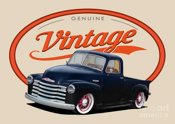 Wall Art - Digital Art - Vintage Truck by Paul Kuras