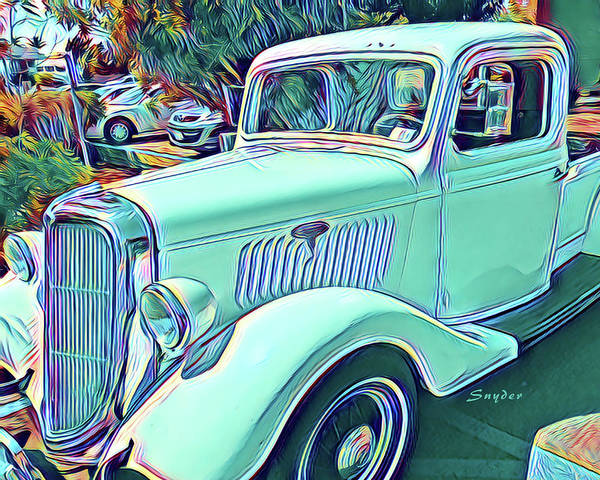 Photograph - Vintage Truck Surreal by Floyd Snyder