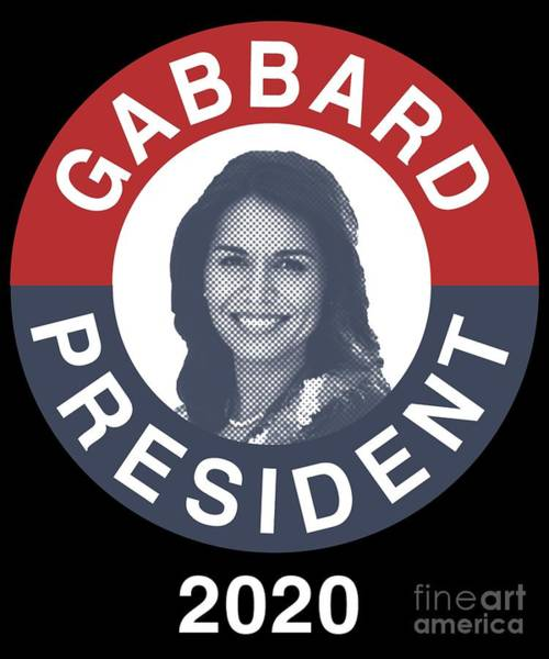 Digital Art - Vintage Tulsi Gabbard For President 2020 by Flippin Sweet Gear