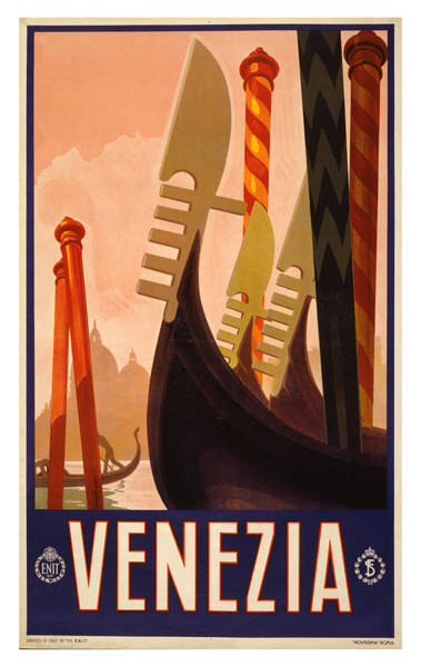 Wall Art - Photograph - Vintage Venice Travel Poster by Ricky Barnard