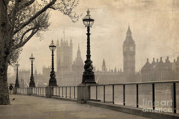 Wall Art - Photograph - Vintage View Of London,  Big Ben & by Tkemot