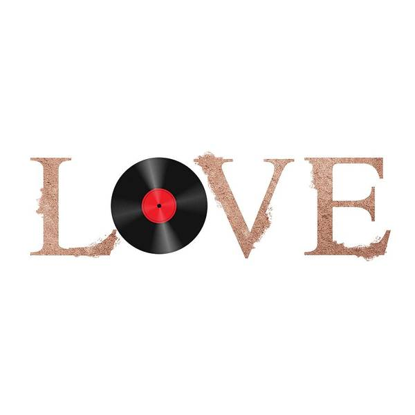 Wall Art - Painting - Vintage Vinyl Love Poster By Adam Asar by Celestial Images