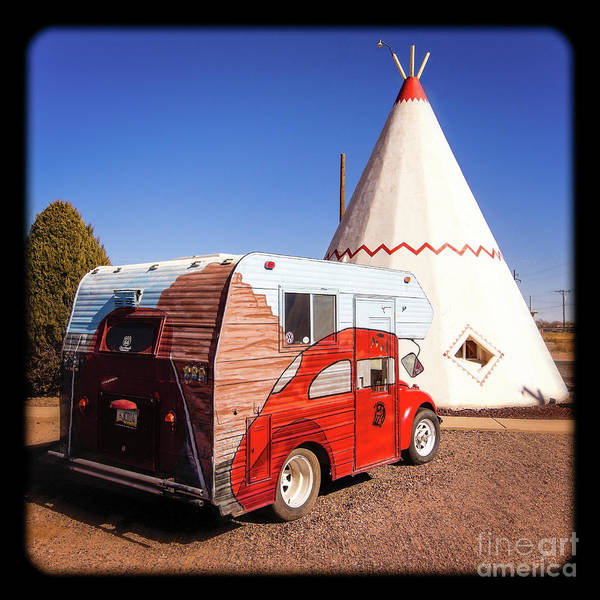 Photograph - Vintage Volkswagon Beatle Camper  by Imagery by Charly