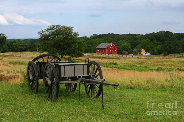 Photograph - Vintage Wagon On Cemetery Ridge Gettysburg by James Brunker