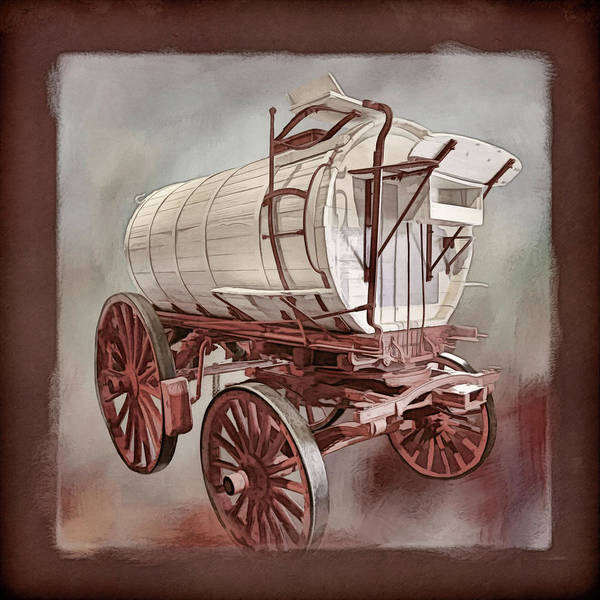 Wagon Wheel Photograph - Vintage Water Wagon by Donna Kennedy