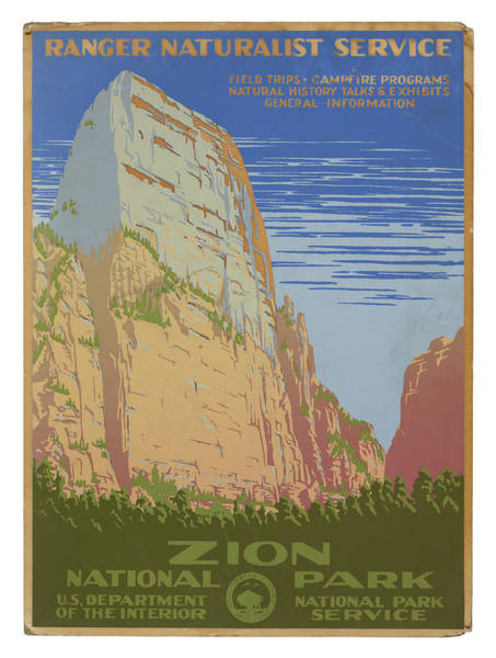 Wall Art - Photograph - Vintage Zion Travel Poster by Ricky Barnard