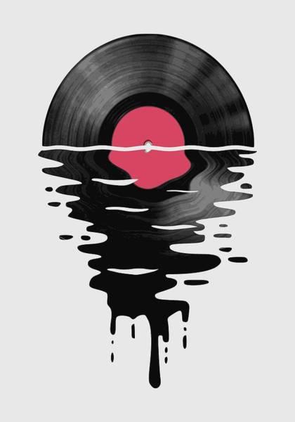 Wall Art - Digital Art - Vinyl Lp Record Sunset by Filip Hellman