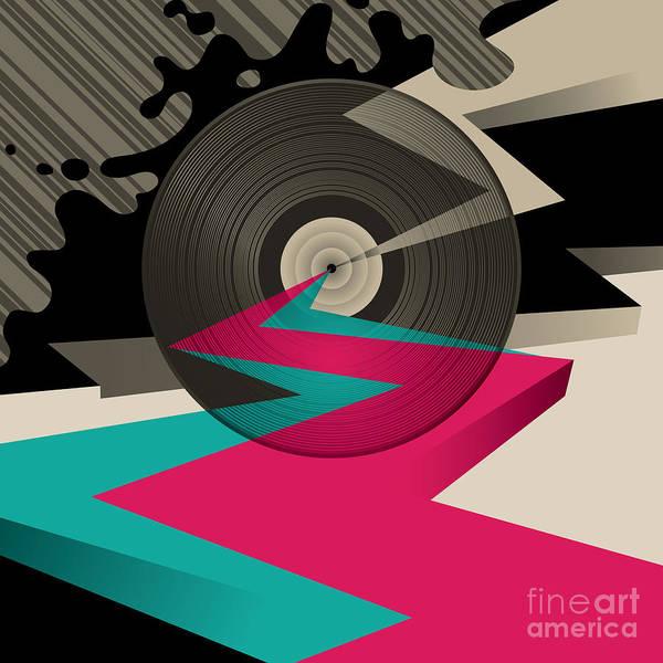 Sounds Wall Art - Digital Art - Vinyl Record by Radoman Durkovic