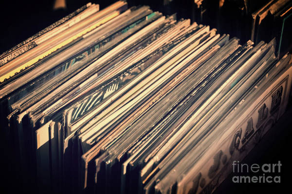 Wall Art - Photograph - Vinyl Records by Delphimages Photo Creations