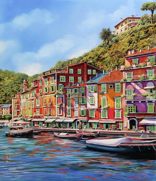 Wall Art - Painting - Viola Portofino by Guido Borelli