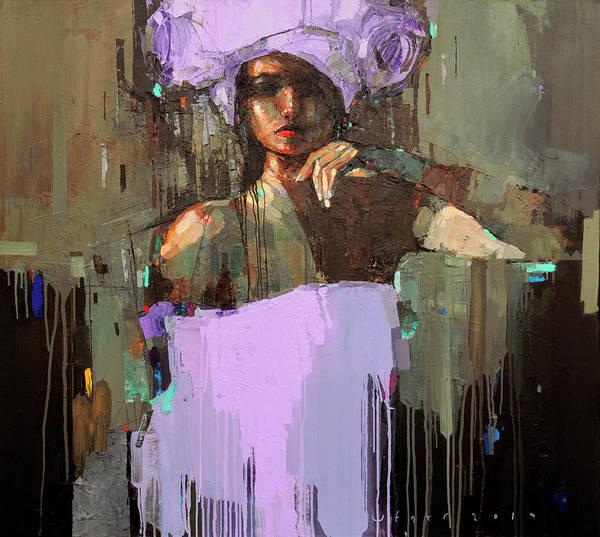 Wall Art - Painting - Violet Night by Viktor Sheleg