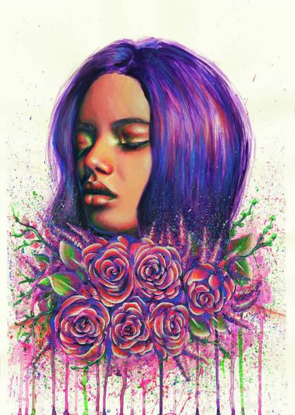 Wall Art - Painting - Violet by Olesya Umantsiva