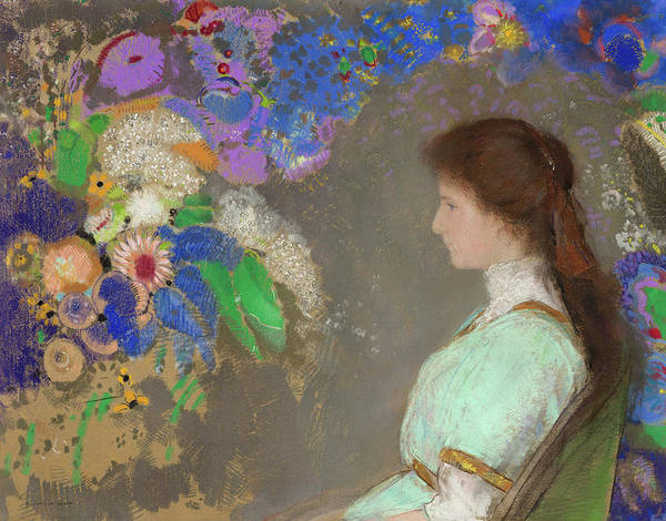 Wall Art - Painting - Violette Heymann, 1910 by Odilon Redon