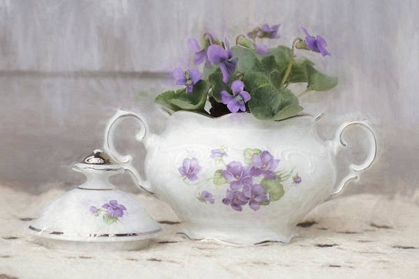 Wall Art - Photograph - Violette Sugar Bowl by Lori Deiter