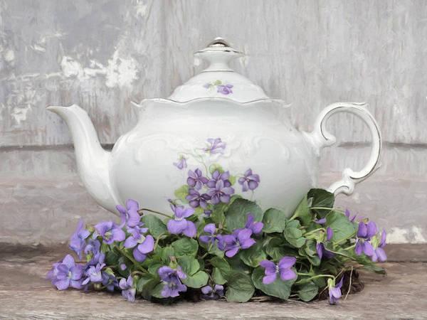 Wall Art - Photograph - Violette Teapot by Lori Deiter