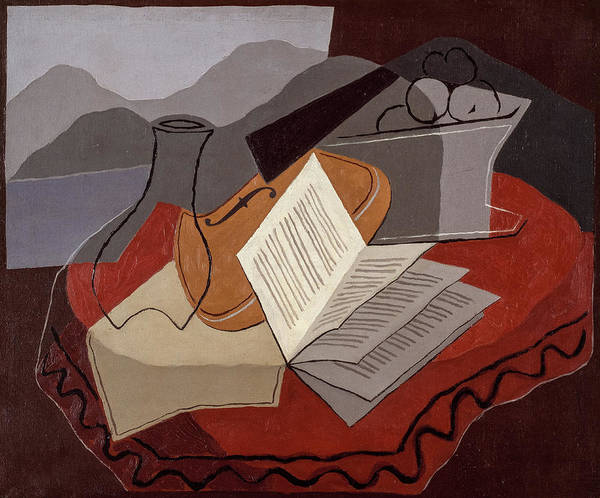 Wall Art - Painting - Violin Before An Open Window, 1926 by Juan Gris