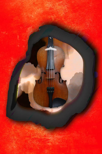 Mixed Media - Violin Daydream by Marvin Blaine