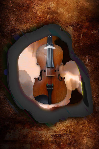 Mixed Media - Violin Dreaming by Marvin Blaine