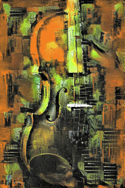 Music Room Mixed Media - Violin In Color 04 by G Berry
