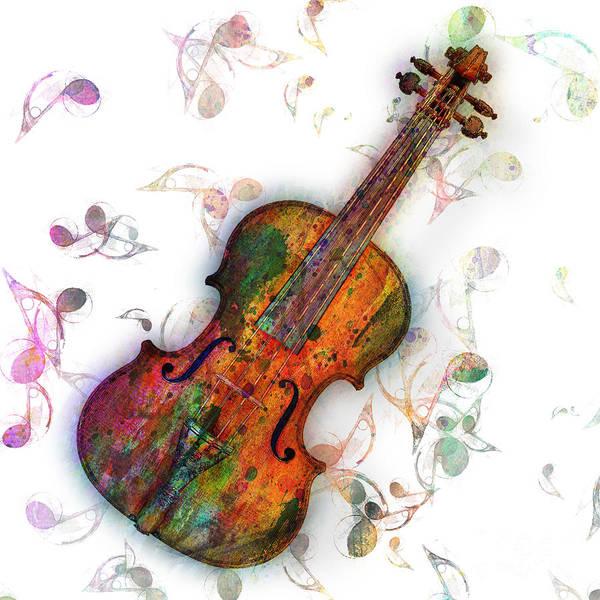 Wall Art - Digital Art - Violin by Mark Ashkenazi