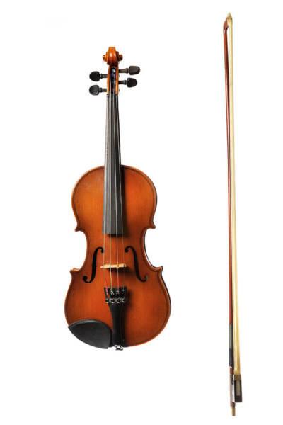 Art Object Photograph - Violin On White by Sjo
