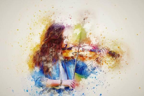 Violinist Wall Art - Painting - Violinist by ArtMarketJapan