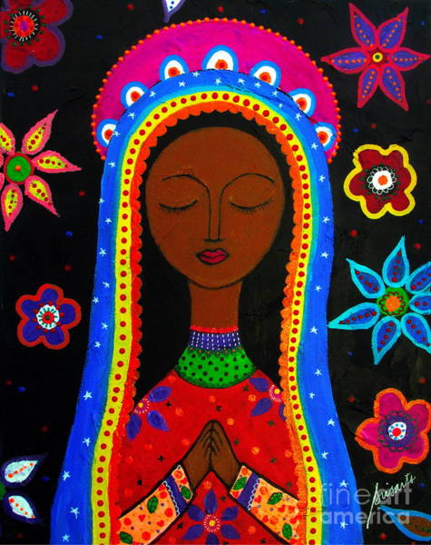 Painting - Virgen Guadalupe by Pristine Cartera Turkus