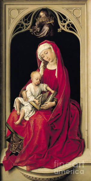 Wall Art - Painting - Virgin And Child, 1464  by Rogier van der Weyden