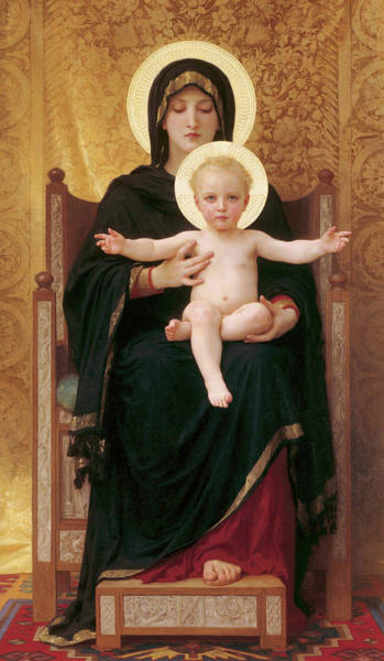 Wall Art - Painting - Virgin And Child, 1888 by William-Adolphe Bouguereau