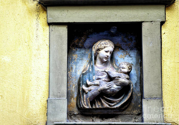 Photograph - Virgin And Child At Piazza Del Duomo In Florence by John Rizzuto
