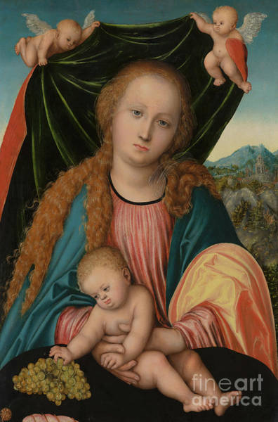 Wall Art - Painting - Virgin And Child By Cranach by Lucas the Elder Cranach