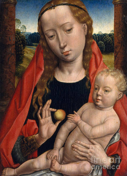 Wall Art - Painting - Virgin And Child By Hans Memling by Hans Memling