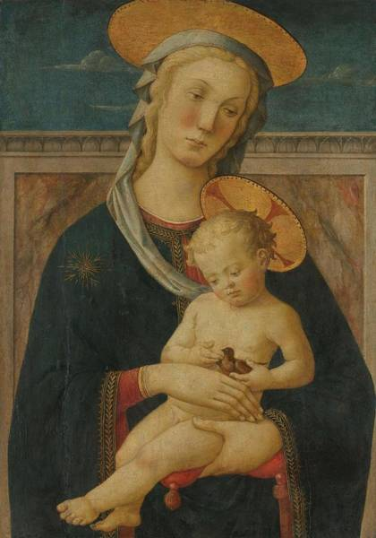 San Miniato Painting - Virgin And Child. by Meester van San Miniato -attributed to- Pier Francesco Fiorentino -rejected attribution-