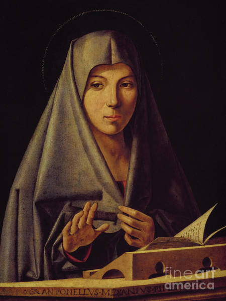 Wall Art - Painting - Virgin Annunciate By Messina by Antonello da Messina