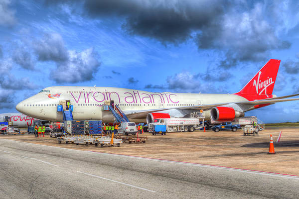 Wall Art - Photograph - Virgin Atlantic Boeing 747 Barbados by David Pyatt