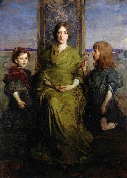 Wall Art - Painting - Virgin Enthroned, 1891 by Abbott Handerson Thayer