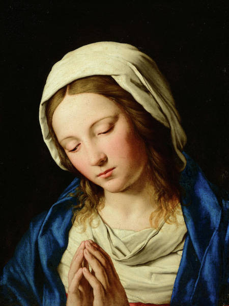 Wall Art - Painting - Virgin Mary In Prayer by Giovanni Battista Salvi