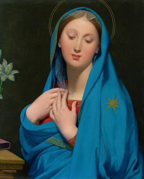 Wall Art - Painting - Virgin Of The Adoption - Digital Remastered Edition by Dominique Ingres
