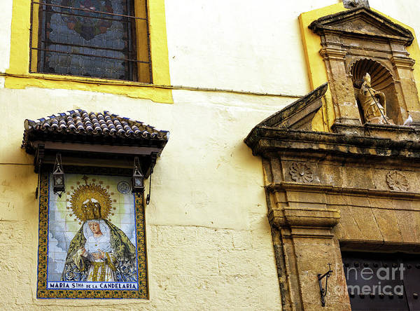 Photograph - Virgin Of The Candelaria In Seville by John Rizzuto