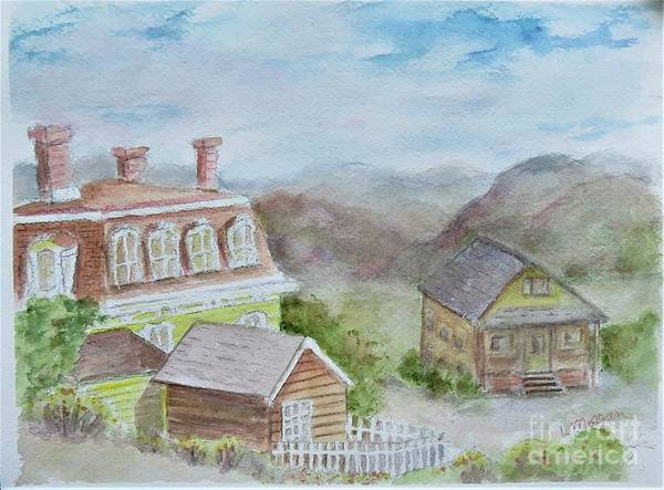 Painting - Virginia City Nevada by Laurie Morgan