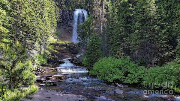 Digital Art - Virginia Falls - Glacier National Park by Joseph Hendrix