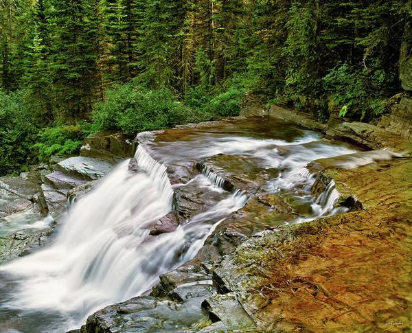 Photograph - Virginia Falls by Leland D Howard