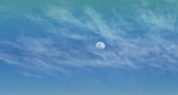Photograph - Virgo Moon In Clouds by Judy Kennedy