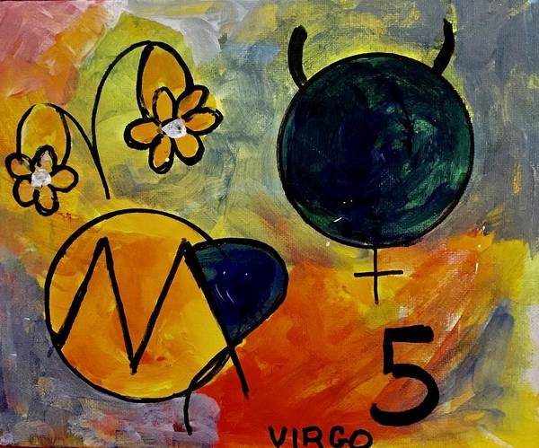 Signs Of The Zodiac Painting - Virgo Personality by Carol Stanley