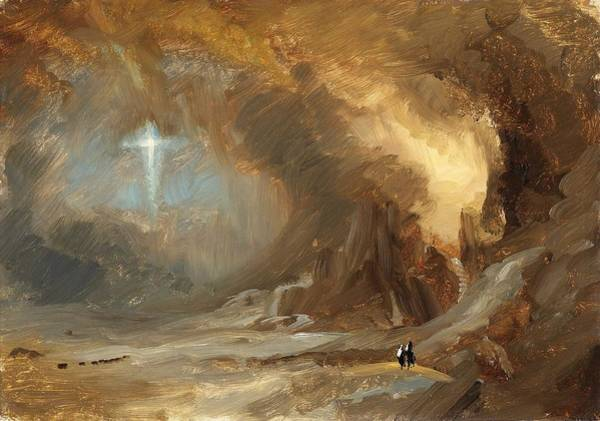 Felicitous Wall Art - Painting - Vision Of The Cross - Digital Remastered Edition by Frederic Edwin Church