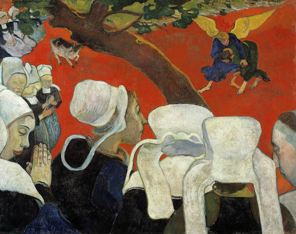 Wall Art - Painting - Vision Of The Sermon, Jacob Wrestling With The Angel by Paul Gauguin