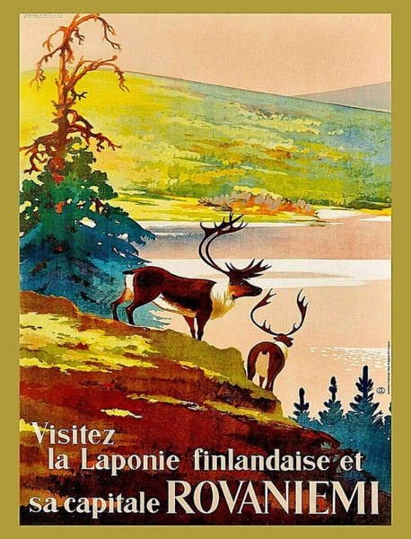 Wall Art - Painting - Visit Laponia, Rovaniemi by Long Shot